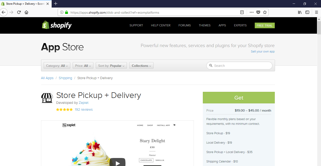 How to build a website - Shopify store pickup