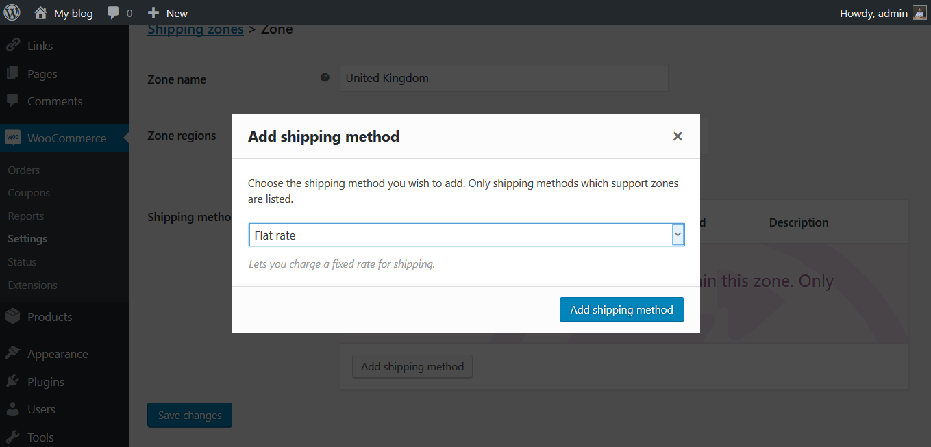 how to setup shipping in woocommerce