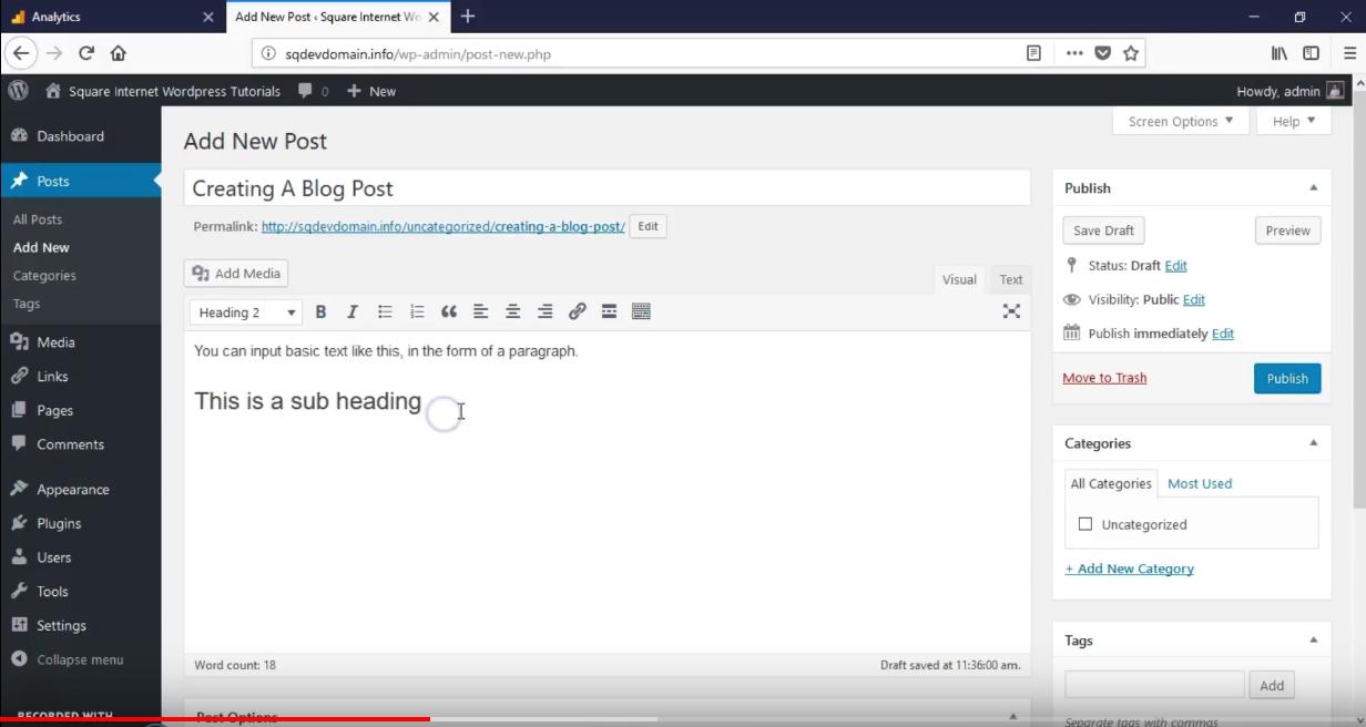 How To Write A Blog On WordPress