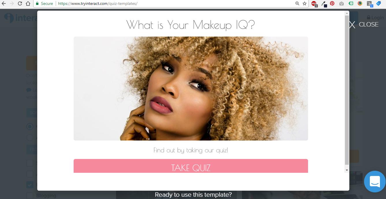 Interact Makeup Quiz