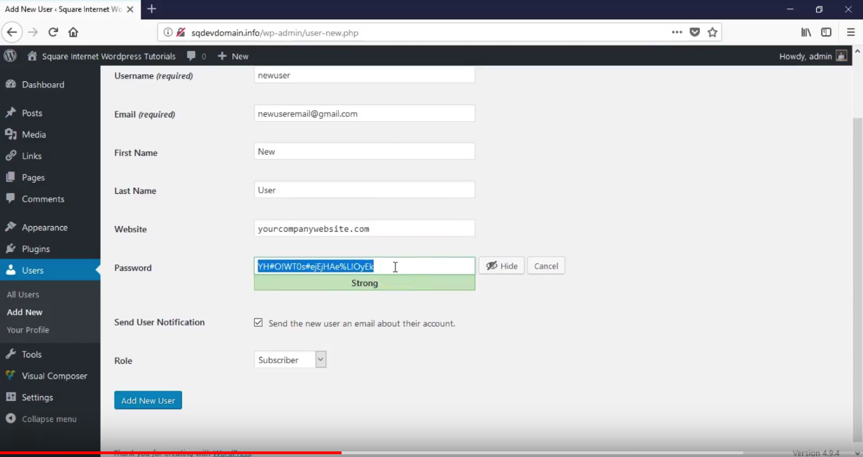How To Create A New User In WordPress