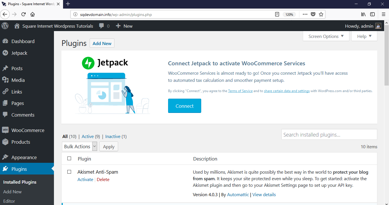 How to log in - WordPress dashboard